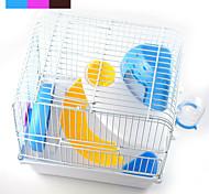 Недорогие -Шиншиллы Маленькие зверьки пластик Металл Портативные Многофункциональный Косплей Клетки Кофейный Синий Розовый