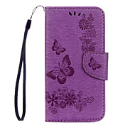 For Samsung Galaxy S8 Plus S8 PU Leather Material Butterfly Flower Pattern Solid Color Phone Case S7 Edge S7 S6 Edge S6 S5 Mini S5 S4 Mini S4