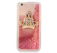 For Rhinestone Broadcrown Star Flowing Liquid DIY Case Back Cover Case Glitter Shine Soft TPU for Apple iPhone 7 7 Plus 6s 6 Plus