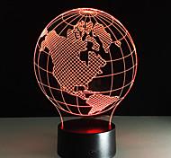 Недорогие -Ночник акриловые панели настольные лампы карта америки форма разноцветные ночная лампа дети день рождения подарок veilleuses pour enfants
