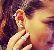 Women's Clip Earrings Crystal Unique Design Crystal Alloy Star Jewelry For Wedding Party Special Occasion Anniversary Birthday