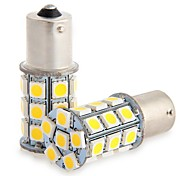 2Pcs 1156 27*5050SMD LED Car Light Bulb Warm Light DC12V