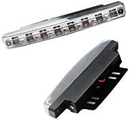 Автомобиль дневного света 8 светодиодов 8smd drl дневной свет комплект супер белая головная лампа парковочный автомобиль противотуманные