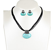 Women's Drop Earrings Necklace Turquoise Crystal Unique Design Dangling Style Bohemian Fashion Euramerican Party Anniversary