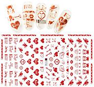 Недорогие -1 pcs 3D / Наклейки для ногтей Наклейка для ногтей Наклейки