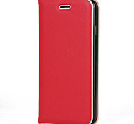 Para el iphone de la manzana 7 7 más 6s 6 más se 5s 5 cubierta del caso color sólido material de la piel de la PU marco de la textura del