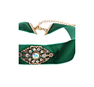 Women's Choker Necklaces Irregular Chrome Cute Style Personalized Light Green Jewelry For Congratulations Graduation Gift 1pc