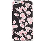 Для яблока iphone 7 7plus чехол обложка задняя обложка футляр цветок твердый pc 6s plus 6 plus 6s 6