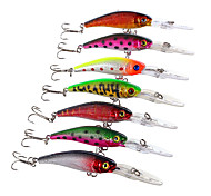 "7 pcs Hard Bait Minnow Fishing Lures Hard Bait Minnow Assorted Colors g/Ounce,100 mm/4"" inch,Hard PlasticSea Fishing Fly Fishing Bait"