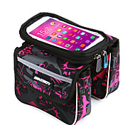 Bike Frame Bag Bike Handlebar Bag Cell Phone Bag 5.7 inch Waterproof Rain-Proof Wearable Touch Screen Cycling for Samsung Galaxy S4