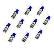 10Pcs T10 9*5050 SMD LED Car Light Bulb Blue Light DC12V