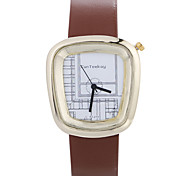 cheap -Cute Watch Women luxury Brand Fashion Square Casual Quartz Unique Stylish Watches Small Female Leather Sport Lady Wristwatches