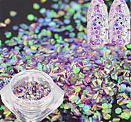 1 Bottle Fashion Sweet Nail Art Glitter Light Purple Fish Scale Slice Decoration Laser Nail Art Mermaid Hexagon Paillette Glitter Thin Slice LP09
