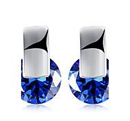 Women's Stud Earrings AAA Cubic Zirconia Unique Design Rhinestone Geometric Friendship Adorable Personalized Hip-Hop Hypoallergenic Cute
