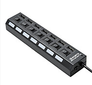 cheap -7 Port USB 2.0 Hub with Individual Power Switches and LEDs Lightweight Fast