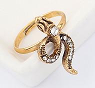Korean Style Personality Rhinestone Small Snake Ring Movie Jewelry