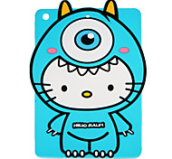 cheap -Case For Apple iPad 4/3/2 iPad Air 2 iPad Air Pattern Back Cover 3D Cartoon Soft Silicone for iPad 4/3/2 iPad Air iPad Air 2 iPad 9.7