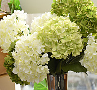 cheap -20cm Diameter Large Size High Simulation Silk Hydrangea Home Decoration Artificial Flower(1Branch)