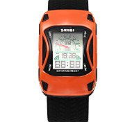 cheap -SKMEI Men's Digital Watch / Sport Watch Water Resistant / Water Proof / Cool Silicone Band Flower / Fashion Black