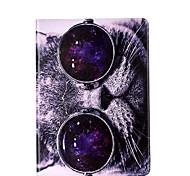 Для samsung galaxy tab a 9.7 a 7.0 e 9.6 крышка случая кошка образец карта стент pu материал плоский защитный кожух