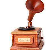 Music Box Toys Simulation Square Wood Metal Pieces Children's Girls' Valentine's Day Gift