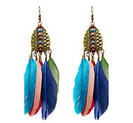 cheap -Women's Drop Earrings - Circular / Logo Style / Turkish Red / Blue / As Picture Wings / Feather Earrings For Wedding / Party / Special