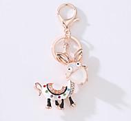 The New Car Bag Key Ring The Cartoon Small Donkey Metal Creative Set The Key ring