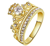 Women's Ring Engagement Ring Statement Rings Crystal Cubic Zirconia Euramerican Fashion Personalized Luxury Statement Jewelry Copper Gold Plated