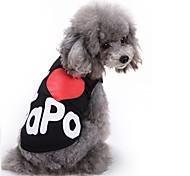 Недорогие -Кошка Собака Футболка Жилет Одежда для собак Буквы и цифры Черный Серый Хлопок Костюм Для домашних животных Муж. Жен. Очаровательный На