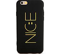 Недорогие -Для apple iphone 7 7 плюс футляр для чехлов задняя крышка case word / фраза soft tpu 6s plus 6plus 6s 6