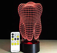Teeth Type 3D Led Lamp Dental Creative Gift Colorful 3D Tooth Gradient Light Dental Clinic Artwork Artware Night Teeth Shape