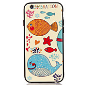 For Apple iPhone 7 7 Plus iPhone 6s 6 Plus Case Cover The Fish Pattern 3D Relief Plastic Back Shell TPU Frame Cases