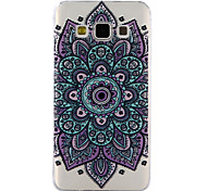 For Samsung Galaxy A3 A5 (2017) Case Cover Datura Flowers Pattern Drop Glue Varnish High Quality TPU Material Phone Case A3 A5