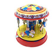 cheap -Wind-up Toy Cute Horse Carousel Merry Go Round Metalic Iron 1pcs Pieces Boys' Kid's Gift