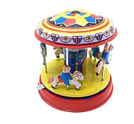 Недорогие -Игрушка с заводом Игрушки Милый стиль Цилиндрическая Лошадь Карусель Веселый раунд Металл 1 Куски Детские Подарок
