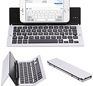 cheap -F18 Portable Ultra Thin Foldable Aluminum Alloy Bluetooth 3.0 Wireless Keyboard For Mobile Phone Tablet PC