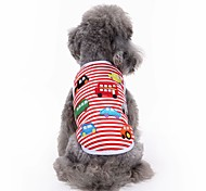 cheap -Cat Dog Shirt / T-Shirt Vest Dog Clothes Embroidered Red Cotton Costume For Pets Men's Women's Cute Casual/Daily Fashion