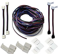 Un set-led strips connettori complete kit di striscia di strip jumper connettore d'angolo a forma di rgb cavo di estensione stripless
