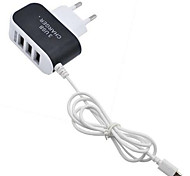 cheap -Home Charger / Portable Charger USB Charger EU Plug Fast Charge / Charger Kit / Multi Ports 3 USB Ports 3.1 A