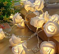 cheap -10 Led Rose Flower String Strip Fairy Lights For Holiday Wedding Decor Light  Powered By AA Battery (Not Include)