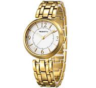 REBIRTH Женские Модные часы Японский Японский кварц / сплав Группа Повседневная Серебристый металл Золотистый Золотой Серебряный