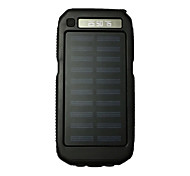 3LED SOS 8000mAh FlashLight 5V2A Power Bank with Solar Charge for Mobile Phone