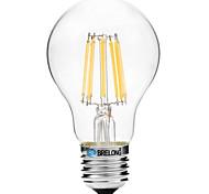 Недорогие -8W E27 LED лампы накаливания A60(A19) 8 COB 600 lm Тёплый белый Белый 2700-3500   6000-6500 К V