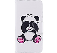 For iPhone 7Plus 7 Phone Case PU Leather Material Giant Panda Pattern Painted Phone Case 6s Plus 6Plus 6S 6 SE 5s 5