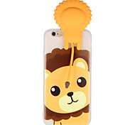 Case for Apple iPhone 7 7Plus 3D Cartoon Cute Lion Pattern Soft TPU Material Back Case Cover For iPhone 6s Plus 6 Plus 6s 6