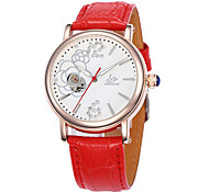 Жен. Модные часы Механические часы Кварцевый Кожа Группа Белый Красный Фиолетовый