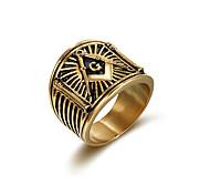 Кольцо Euramerican Классика Нержавеющая сталь Бижутерия Для Для вечеринок Особые случаи Новогодние подарки 1 шт.