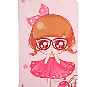 Недорогие -Для apple ipad mini1 2 3/4 чехол для случая с подставкой флип-паттерн сумка для тела сексуальная леди цветок твердая кожа pu