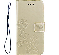 FOR Samsung Galaxy S8 Plus S8 Phone Case Roses 3D Embossed Pattern Hand Rope Style PU Leather Material Phone Case