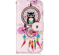 Для яблока iphone 7 7 плюс 6s 6 плюс se 5s 5 крышка корпуса ветровые куранты сова шаблон блеск рельеф pu материал карта стент кошелек